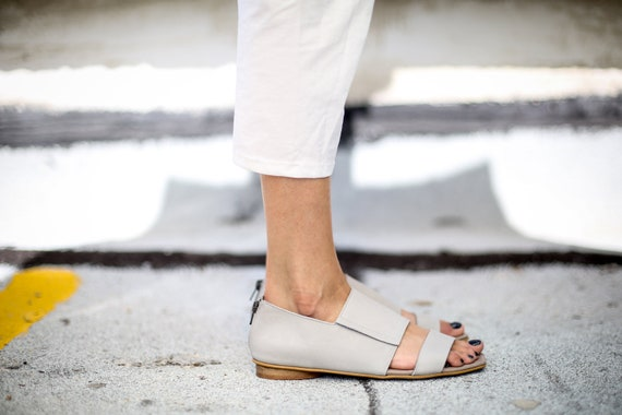 Grey Shoes Sandals Sandals Flats SALE Grey Sandals Sandals Grey Capri Summer Leather Greek Handmade Summer Strappy Sandals EqgqwO