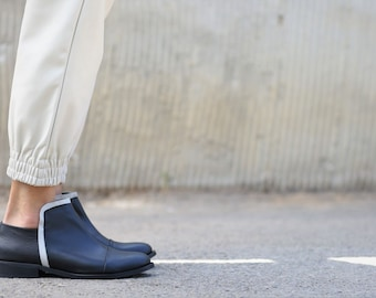 Black Leather Booties, Black Boots, Handmade Boots, Ankle Boots, Black Booties, Riding  boots, Womens Boots, Black Booties, Frances