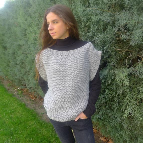Patrón chaleco mujer Patrones para tejer a dos agujas | Etsy