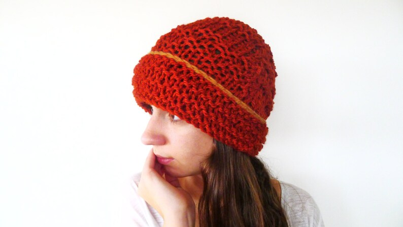 198c43fdd68 Chunky knit beanie. Knit beanie hat. Wool knit hat. Womens