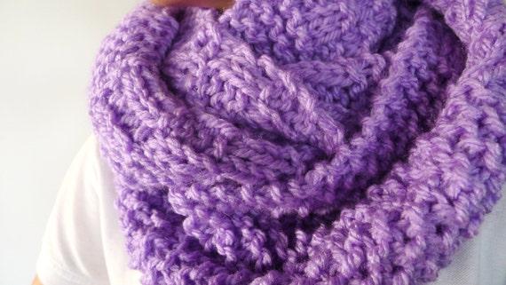 tienda de liquidación a1f4c 2beb2 Bufanda circular hecha a mano. Cuellos de lana dos agujas. Cuellos tejidos  para invierno. Bufandas cerradas para mujer. Ideas para regalar