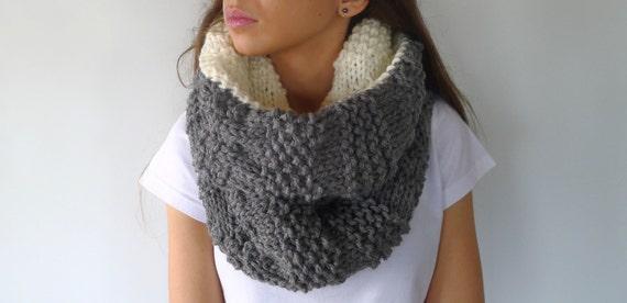 fd12322ec9079 Cuello reversible hecho a mano Cuellos tejidos para mujer