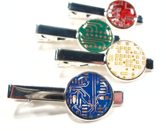 Circuit Board Tie Clip - Men's Tie Clip - Birthday Gift - Men's Gift - Gift For Husband - Techie Tie Clip - Computer Geek Gift - Techie.