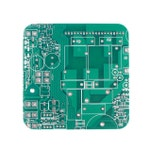 Circuit Board Drink Coaster, Office Accessories, Electrickery Gift, Geeky Gift, Green Drink Coaster, Table Coaster, Tile Coaster, Home Decor