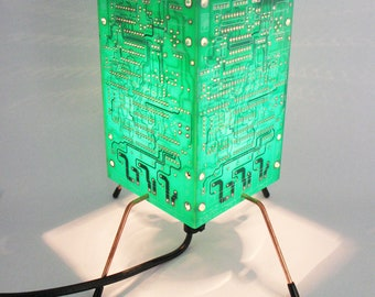 Circuit Board Light, PCB Table Lamp, Green light, Yellow Light, Red Light, Blue light, Geek Light, Recycled Light, Recycled Table Lamp