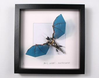 Framed Halloween Gift, Black Bat, Gothic Bat, Fly, Butterfly, Spider, Goth Gift, Vampire, Dracula, Joker, Bram Stoker.