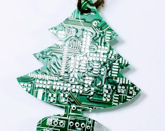 Recycled Circuit Board Christmas Tree Decoration