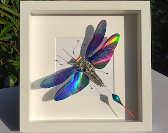 Framed Butterfly, Mother's Day's Gift, Choice of Colours, Handmade By Electrickery