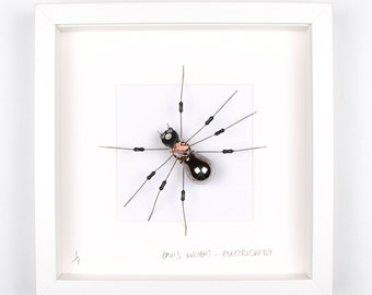 Silver Spider Framed Wall Art | Recycled Sculpture