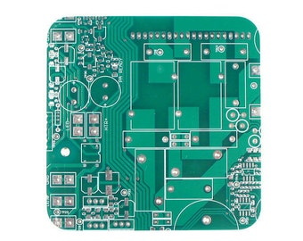 Circuit Board Drink Coaster, Office Accessories, Computer Geeky Gift, Geeky Gift, Eco Friendly Gift, Table Coaster, Tile Coaster,