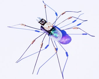 White Spider Framed Wall Art | Recycled Sculpture