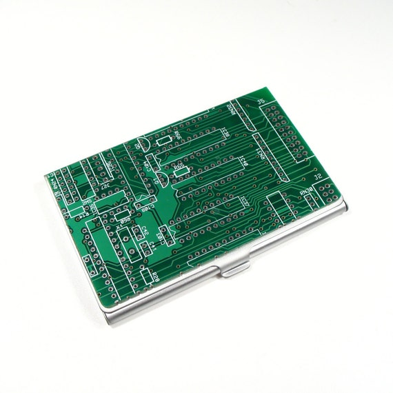 Circuit board business card case geek gift husband gift etsy image 0 colourmoves