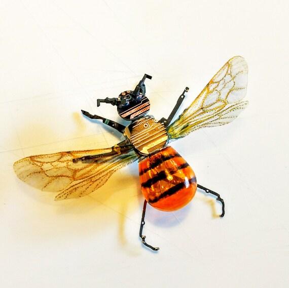 Bumblebee Wall Art Box Frame Bee Art Honey Bee Circuit Board