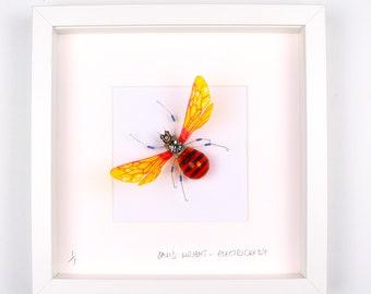 Bumblebee Framed Wall Art | Recycled Sculpture