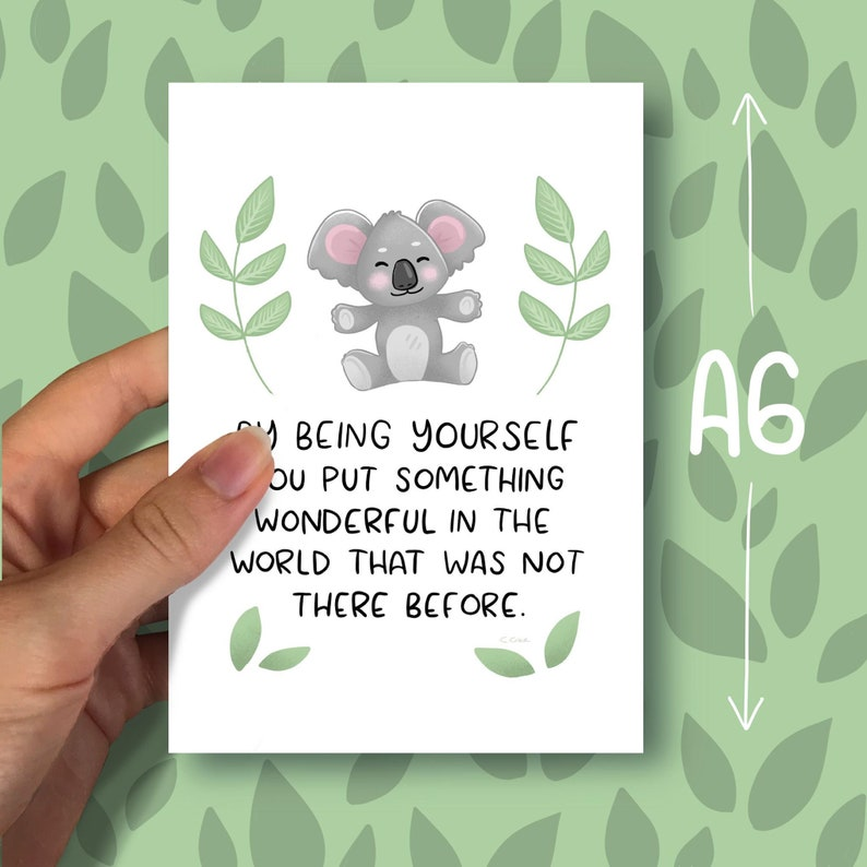 By being yourself  Positivity Print A6 image 0