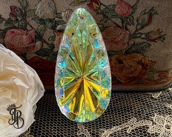 Vintage Luminous Art Deco Pendant - Starburst AB Colored - Ultra Rare and Stunning - Limited Supply - 1pc