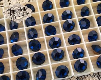 Vintage Rare 47SS Dark Sapphire Blue Montana Swarovski Crystal SS47 Rhinestones 10mm - 1100 Austrian 1st Quality RARE COLOR MC - 6pcs