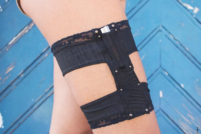 834bd661f Black Festivals Garter Belt with lighter pocket on the front