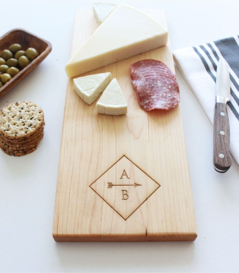 Personalized Cheese Board Personalized Cutting Board Custom image 0