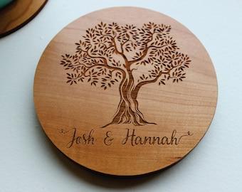 Custom Coasters, Wood Coasters, Personalized Coaster, Custom Wedding Gift, Engagement Gift, Engraved Coasters, Mothers Day Gift, Engagement