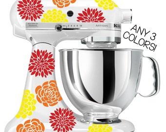 Flower Kitchen Mixer Decals Multi Color | Kitchenaid Mixer Stickers, Kitchenaid  Mixer Decals, Stand Up Mixer Decals, Flower Decals