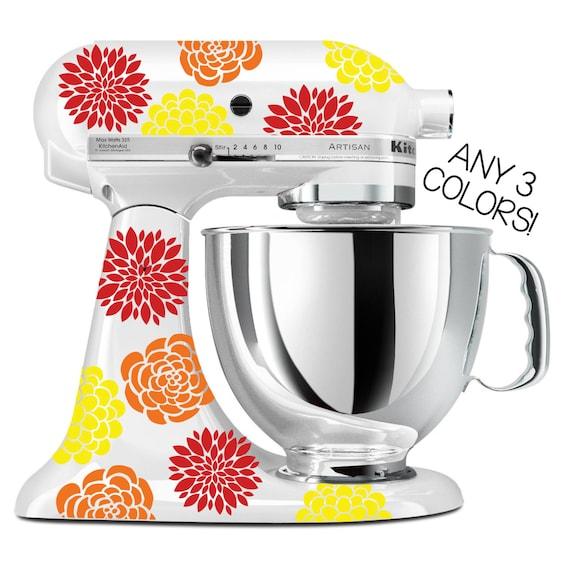 Flower Kitchen Mixer Decals Multi Color Kitchenaid Mixer | Etsy