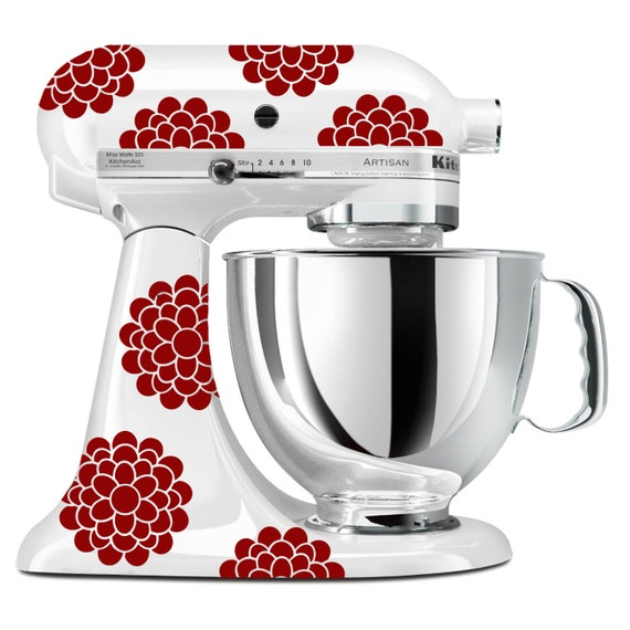 Kitchenaid Mixer Floral Decals ~ Kitchenaid stand up mixer flower decals any color floral