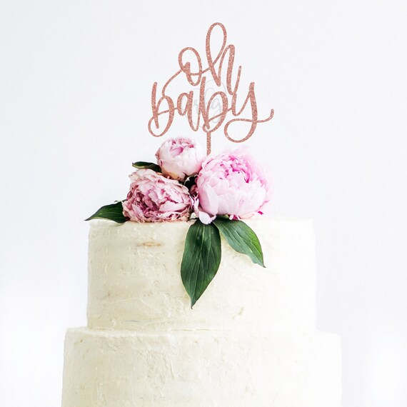 oh baby shower cake topper, baby shower decoration