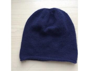 0cc1f8d813f SALE 100% Cashmere handknit navy blue