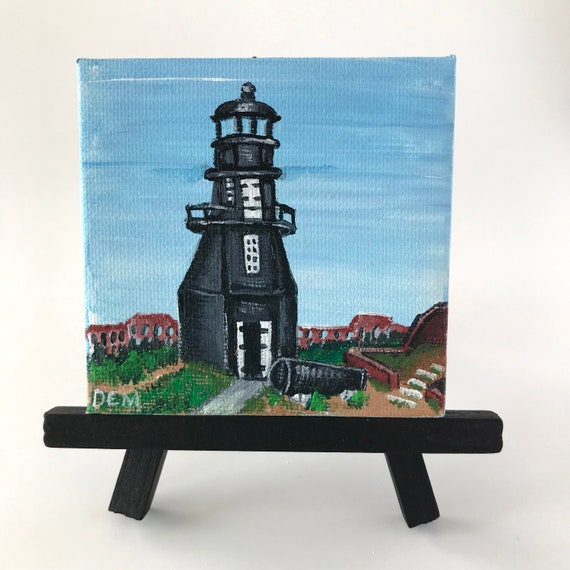 Painting of The Garden Key Lighthouse, Dry Tortugas, Florida