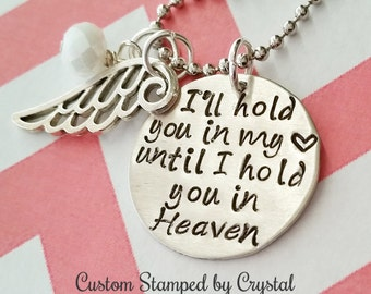 Hold You In My Heart Until I Can Hold You In My Arms A Great Etsy