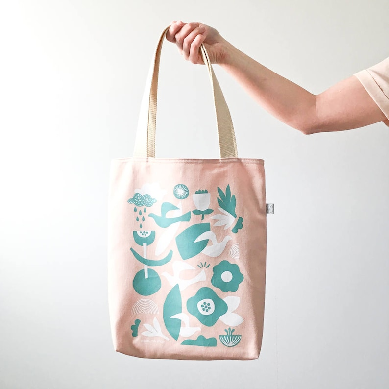 PINK TOTE BAG collab with Helsinki mon amour / scandinavian image 0