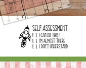 Self Assessment Stamp, Teacher Stamp, Teacher Grading Stamp, Pupil Self Assessed Stamp, Feedback Stamp, Teacher Gift, (txt90)