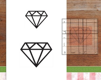 20mm  Mini Stamps Diamond  Rubber Stamp S1234 Planner Stamp Jewel Stamp Cute Diamond Stamp 16mm