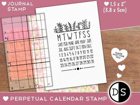 Perpetual Calendar Stamp Annual Habit