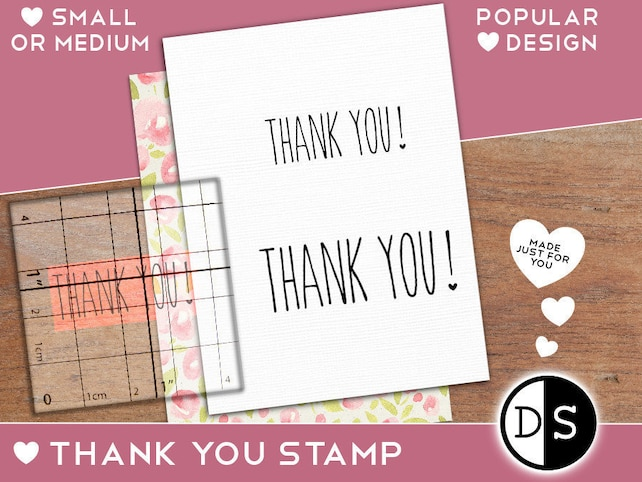Thank You Stamp Wedding Tags Labels