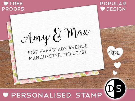 Custom Return Address Stamp Personalized Rubber
