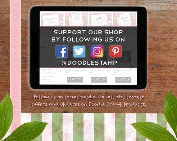 Custom Name Custom Email Personalised Etsy Seller Business Stamp Cts217 Custom Web Address Custom Made For You Card Making Stationery Papercraft