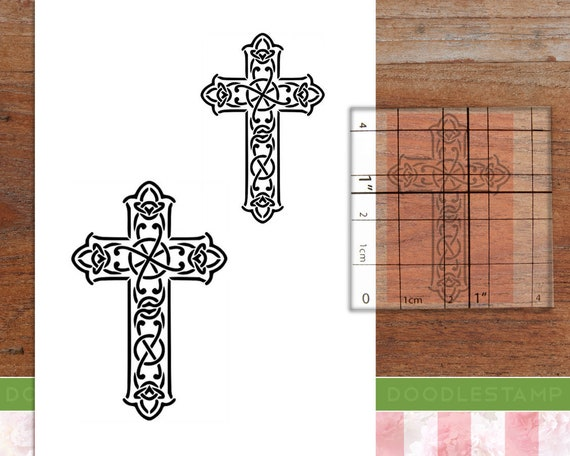 Firmenstempel Adressenstempel « CHRISTLICHES KREUZ » mit Kissen