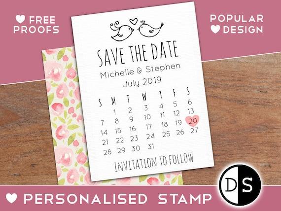 Wedding Calendar | Save The Date Calendar Stamp Wedding Calendar Date Stamp Etsy