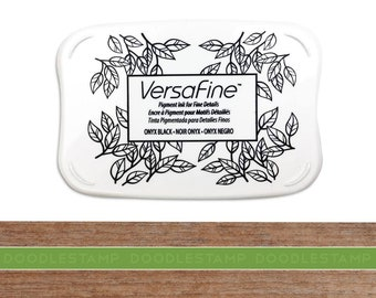 Versafine Ink Pad, Black Ink Pad, Large Ink Pad, Rubber Stamp Ink Pad, Archival Instant Dry Pigment Ink, Rubber Stamp Pad, Stamping Supplies