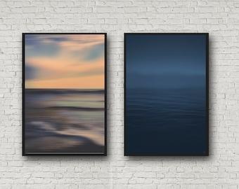 Abstract Ocean Photo Set | Minimalist Pacific Ocean |  SALE Photo SET | Abstract Wall Decor | California Modern | Ocean Print | Coastal Art