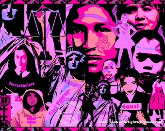 GIRL POWER | Women's Rights Art | Digital Download | Printable Protest Art | Female Equality Design | Human Rights Poster | Social Justice