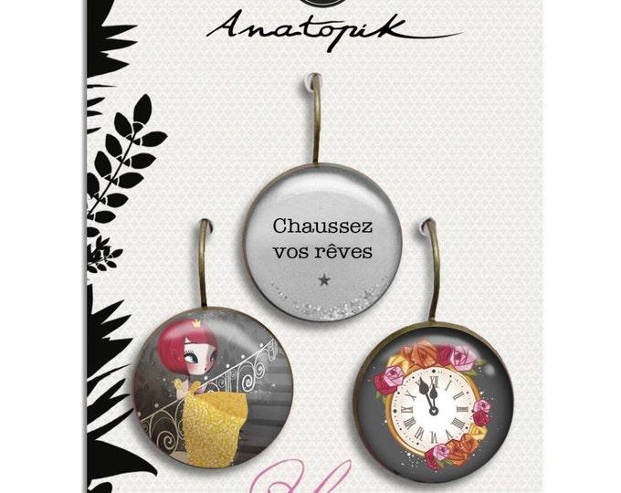 Trio earrings - Youpla & Anatopik (18mm diameter) - Cinderella collection La Plume by ear (30)