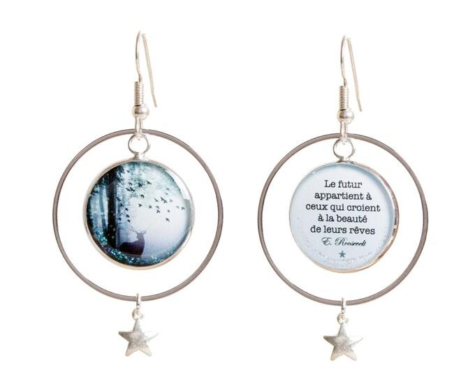 The air AR11 silver resin earrings
