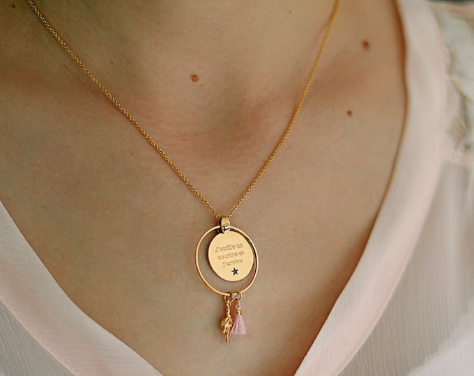 Engraved fingerprint the air necklace