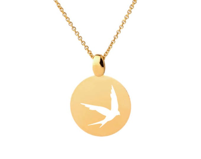 Imprint EM6CO swallow necklace