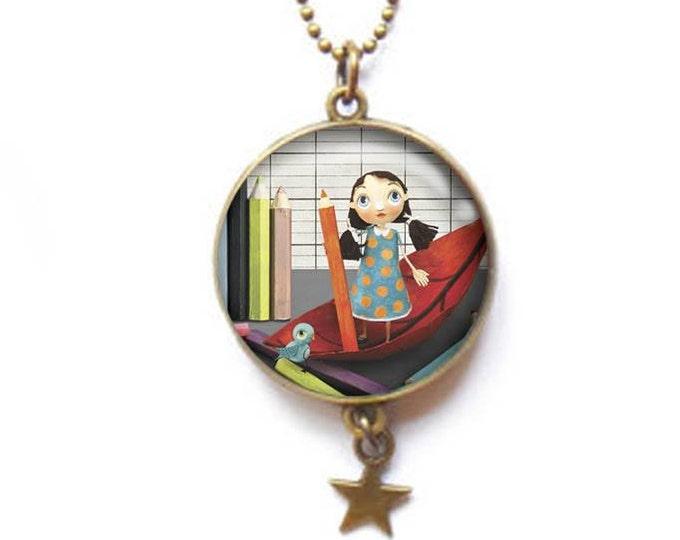 double-sided Recreation - Youpla & Anatopik necklace / Valentine's day