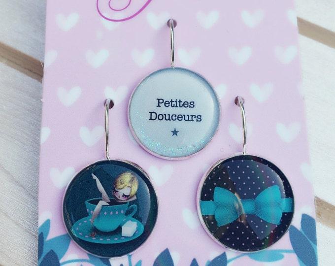 Trio of earrings Alice - Allen & Adolie Day (18mm in diameter) - La Plume à l'Oreille collection