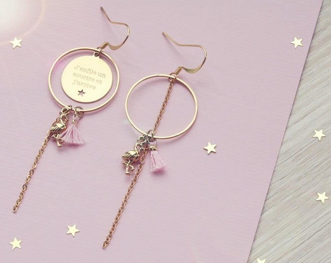1 pair of earrings the airline engraved AR26D